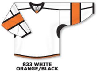 Athletic Knit Hockey Jersey H7000-White/Orange/Black