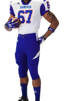 Russell ADULT COLOR BLOCK FOOTBALL GAME JERSEY