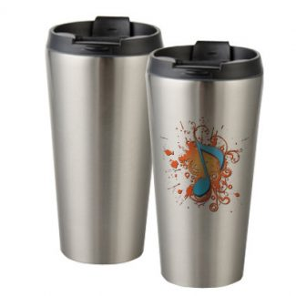 16oz Stainless Steel Tumbler silver