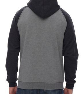 King Athletics Raglan Hooded fleece with full zip l Montreal-Qc
