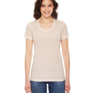 American Apparel Ladies' Triblend Short-Sleeve Track T-Shirt