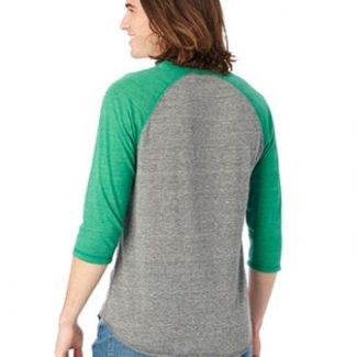 Alternative Unisex Eco-Jersey™ 3/4-SleeveRaglan Henley