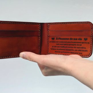 Handmade personalized leather wallet